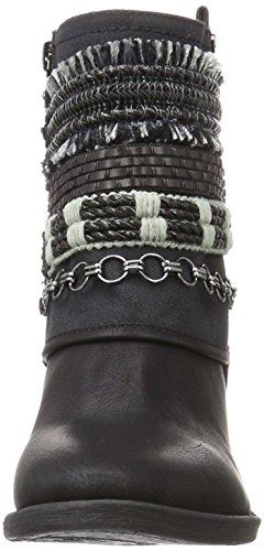 Bullboxer Ankle Boots, Stivali da Motociclista Donna Nero (nero)