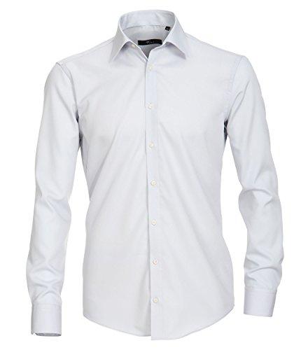 Venti - Slim Fit - Bügelfreies Herren Langarm Hemd in diversen HW Farben (001480) Grau (700)