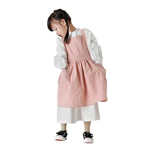 Kitchen Princess Süße Modische Retro Viktorianischen Mädchen Baumwolle Schürze Kinder Schürzen mit Taschen Küchenschürze Grillschürze Modische Apron für Küche Community Aktivität Party