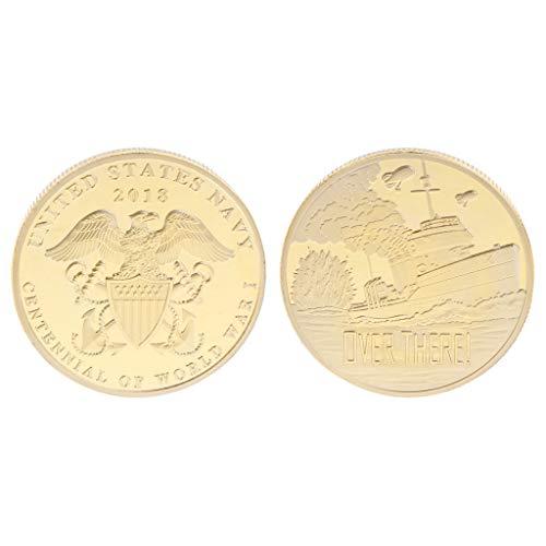 Amarzkmoneta commemorativa della guerra mondiale stati uniti navy centennial anniversary collection souvenir artigianato da collezione (oro)