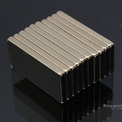 mark8shop 10pcs 20x 10x 2mm n52bloque Imanes Imanes de neodimio de tierras raras