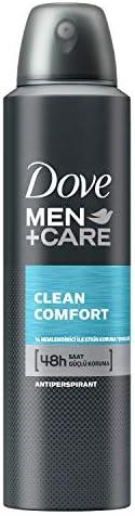 Dove Men Clean Comfort Sprey Deodorant 150 ml 1 Paket (1 x 150 ml)