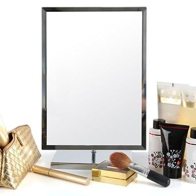 Premier Housewares Großer Kosmetikspiegel zum Stellen, rechteckig, verstellbar, auf Chromständer von Premier Housewares bei Spiegel Online Shop