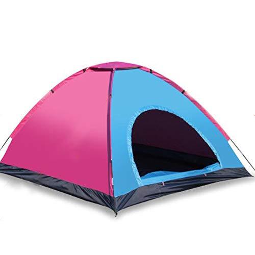 WYGRACE 3-4 Personen Camping Zelt Wasserdichte Outdoor-Sportarten Wandern Doppelschicht Indoor Outdoor Spielhaus Campingzelt,Pink