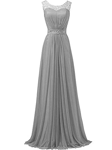 WAWALI Sequins Straps Formal Prom Dresses Evening Party Gowns 14 Silver
