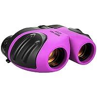Juguetes para niñas de 3-12 años, Binocular Compacto para niños Regalos para niña Adolescente púrpura TG006