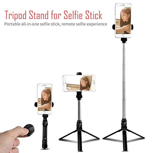Zyg.gg selfie stick con cavalletto treppiede e telecomando, estensibile 7,3-27 pollici selfie stick per iphone x/iphone 7 / 7plus, huawei ect. morsetto a 360 ° / rotazione a 225 °