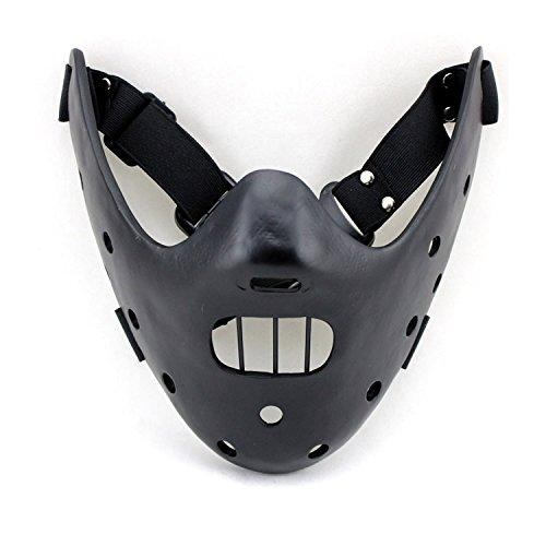 Schweigen der Lämmer Hannibal Cosplay Maske Schwarz (Hannibal Maske)