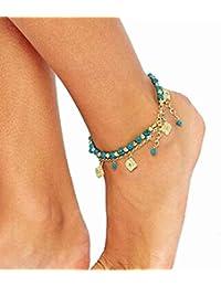 Malloom® Femmes Plage Bohème Turquoise Pieds Nus Chaîne De Bijoux De Cheville Du Pied Sandale