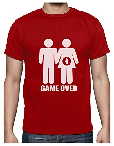 Camiseta Hombre - Game Over Pregnant - Regalo Divertido
