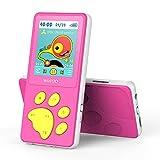 MusicFun Lettore MP3 Bambini, 1.8' LCD Schermo HiFi MP3 Bambini con Giochi, Radio FM, Autospegnimento, E-book, Registratore Vocale, Espandibile fino a 128 GB (Rosa)