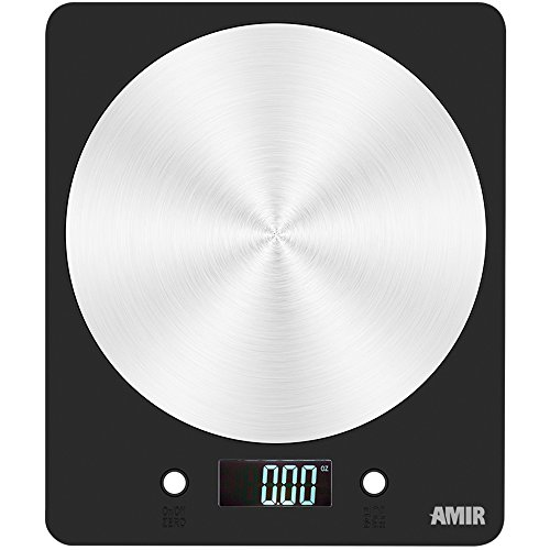 Amir Digital Kitchen Scale, 5000g Electronic Cooking Food Scale with LCD Display for Home, Christmas, Accurate Gram and Slim Design