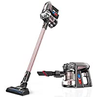 Proscenic P8 Plus Stick Vacuum Cleaner, 15000Pa Handheld Cordless Vacuum Cleaner with Wall Mount and HEPA Filtration, Battery Removable, Two Speeds Suction Power, 35 Minutes Use Time