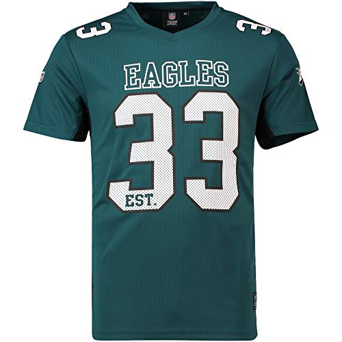 Majestic - Philadelphia Eagles NFL Players Poly Mesh Tee/T-Shirt - Green Philadelphia Eagles NFL Players Poly Mesh Tee/T Shirt - XXL (Philadelphia Eagles Top)
