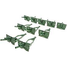Homyl 10 Unidades Modelo de Vehículos Militar Plástico Equipo de Bloque de Ejército en Miniatura Decoración