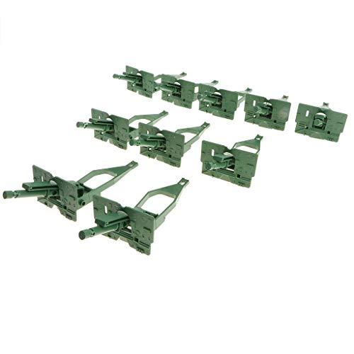 10 Unidades Modelo Vehículos Militar Plástico Equipo