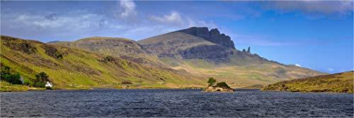 Bis 3 Meter Breite! XXLPanorama LED Glas Leuchtbild, Loch Fado Isle of Skye, Wanddeko Wandbild Rahmenlos dimmbar vollflächig homogen LED hinterleuchtet