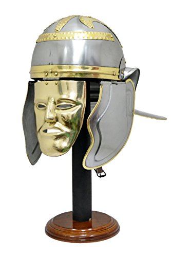 Casco de Sutton Hoo anglosajón Celta M-Casco de vikingo con soporte