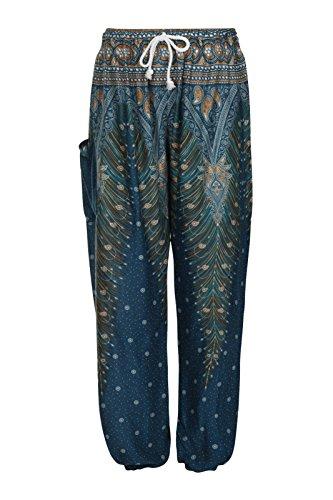 ThaiUK -  Pantaloni  - Donna Peacock Turquoise
