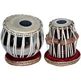 Amaze Musicals Tabla Set, Basic Tabla Drums Set, Steel Bayan, Dayan with Hammer, Cushions and Cover - Perfect Tablas for Students and Beginners on Budget, Tabla Drum, Indian Tabla Hand Drums