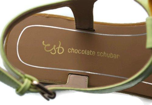 Chocolate Schubar  Eira,  Sandali donna Verde (Citron Vert)