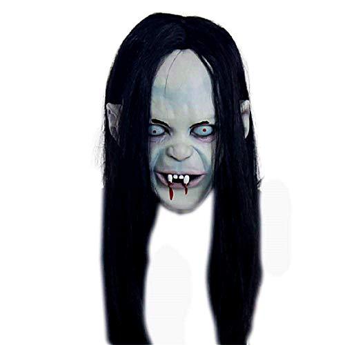 Halloween-Maske Scary Witch Kopfbedeckung Langes Haar Fluch Resentment -