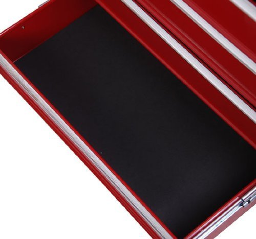 Homcom® Fahrbarer Werkstattwagen Werkzeugwagen Rollwagen Werkzeugkasten mit 5 Schubladen rot - 5