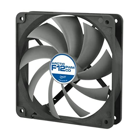 ARCTIC F12 PWM PST CO - 120mm Dual Ball Bearing Low Noise PWM Standard Case Fan with PST Feature - Ideal for Systems running