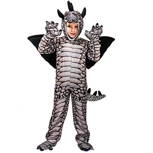 saurier Kostüm Tier Kostüm (Triceratops / Tyrannosaurus / Stegosaurus) (M: 7-9 Jahre, Stegosaurus) ()