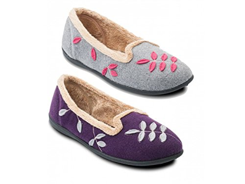 Padders, Pantofole donna Grigio grigio Grigio (grigio)