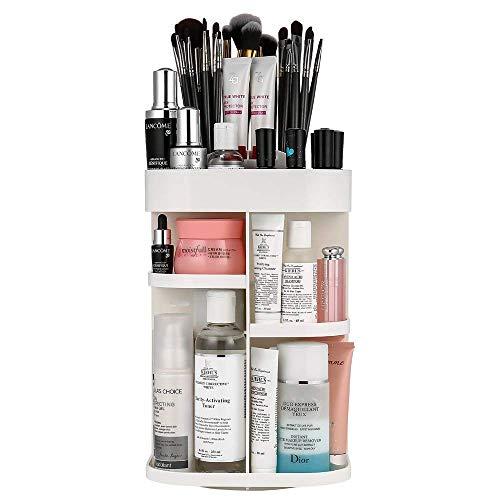 LAVANY Jerrybox Schmink Aufbewahrung, 360 Grad Drehbarer Kosmetik Organizer mit Einstellbare...