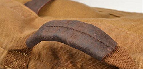 simplebase Vintage in tela e pelle zaino 2150khaki