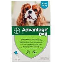 Advantage 100(perros 4–10kg)–4pipetas de 1ml