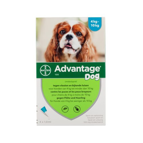 Advantage 100 (perros 4 – 10 kg) – 4 pipetas de 1 ml