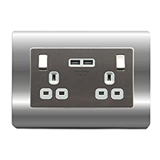 Double Light Switch Surround Acrylic Finger Plate Plug Socket - 59 COLOURS – 25% OFF WHEN YOU BUY 2 OR MORE