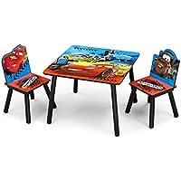 Preisvergleich für Delta Cars Kleiner Tisch und Stühle (Rot/Blau)