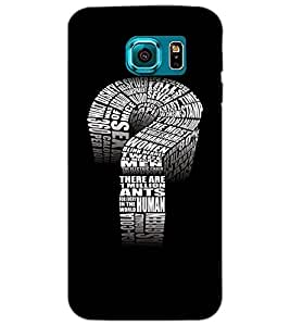 SAMSUNG GALAXY S6 QUESTION MARK Back Cover by PRINTSWAG