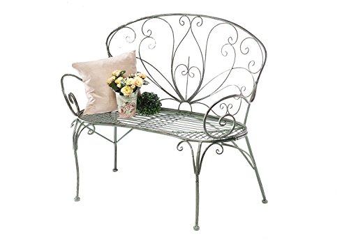 Kobolo Metall-Sitzbank mit Ornamenten Metallbank