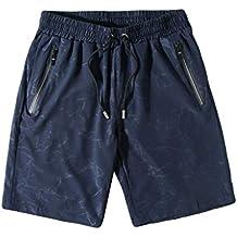 JiaMeng Moda Impresión Casual Secado rápido Playa Surf Natación Pantalones Cortos Sueltos Poliéster Secado Rápido Ligero