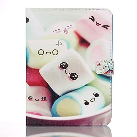 """Etui Samsung Tab 4 10.1"""" - Folio Housse Multi-angles Stand Supporter Magnétique Etui à Rabat Coque en Cuir Smart Cover Case pour Tablette Samsung Galaxy Tab 4 10.1 Pouces T530 T531-Sourire de Candy"""