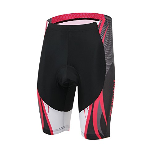 Rotibox Men's 3D Padded Bicycle Cycling Underwear Quick Dry Shorts Men's 3D Padded Bicycle Cycling Underwear UV Protection Breathable Dry Fast Compression Shorts