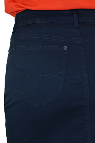 (2516) Damen Plus Size Rock Blau