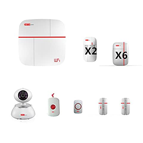 SZABTO Vcare-G White APP Controlled GSM 2.4G WIFI Alarm System Wireless Security Smart GPRS Home Burglar Security System Match with Surveillance IP
