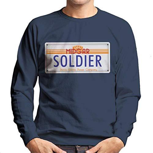 Cloud City 7 Final Fantasy Midgar Soldier License Plate Men's Sweatshirt