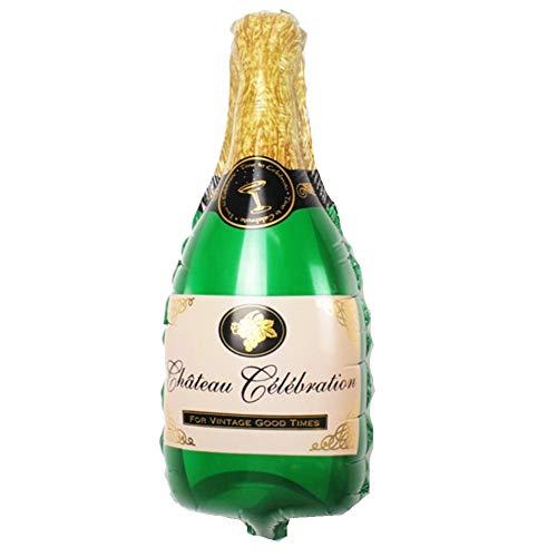 JUSTFOX - Champagner Flasche Sekt Glas Folienballon 44 x 20 cm Luftballon (Champagner Flasche)