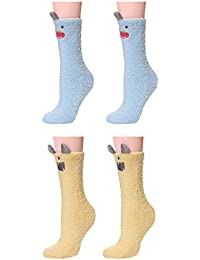 U-Goforst Girl Women's Super Soft Fluffy Warm Cozy Slipper Novelty Screw Home Socks UK 4-10