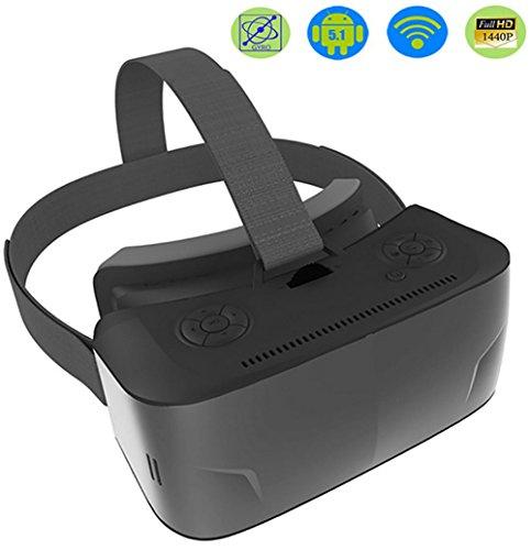 HUYAN1 Alles in einem VR Brille WiFi Bluetooth Virtual Reality 3D VR Headset 1920 1080P Anzeige...