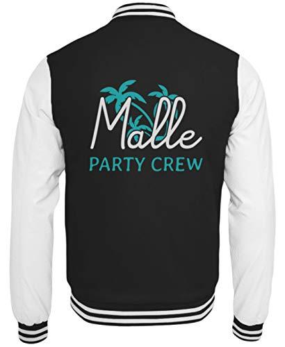 ALBASPIRIT Malle Party Crew Urlaub Mallorca Palma Partyurlaub Palmen Feiern Sangria Insel Geschenk - College Sweatjacke -XL-Schwarz-Weiss