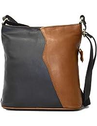 c44026e007e77 DEVRAKH Handtasche Schultertasche Damen klein Mini Echtleder echtes weiches  Nappa-Leder 21348…