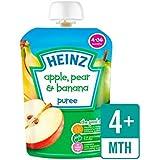 Heinz Lisse Pomme, Poire Et Banane 4-36 Mths 100G - Paquet de 2